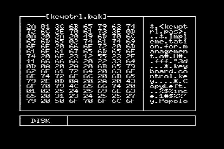 MSXDUMP 0.1 Main screen