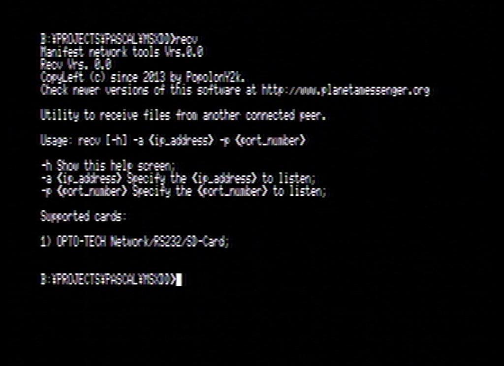 Recv file transfer